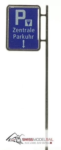 Schild Zentrale Parkuhr Variante 2 bedruckt (1 Stück) Neuheit 2021