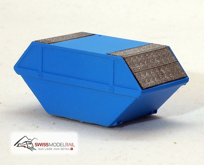 Deckelmulde Standard 6m3 hellblau (Spur N) Neuheit 2020