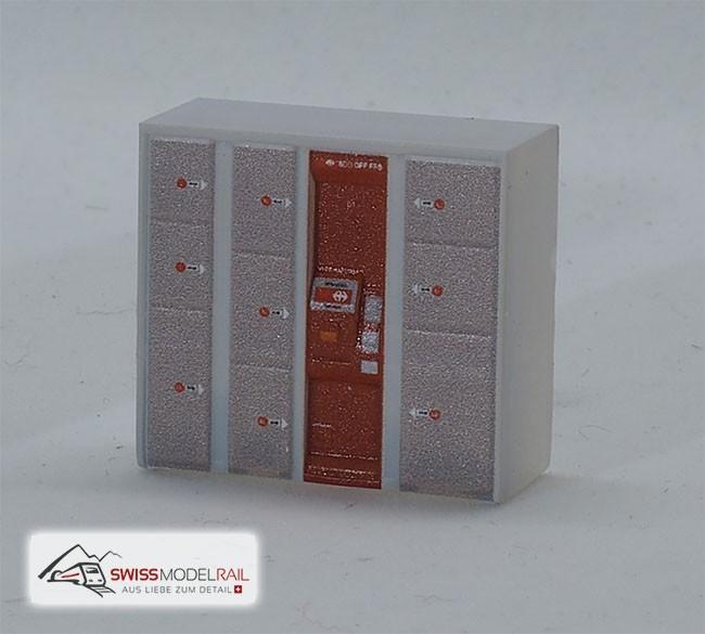 Schliessfach modern mit Zahlstelle (NewSFA) H0