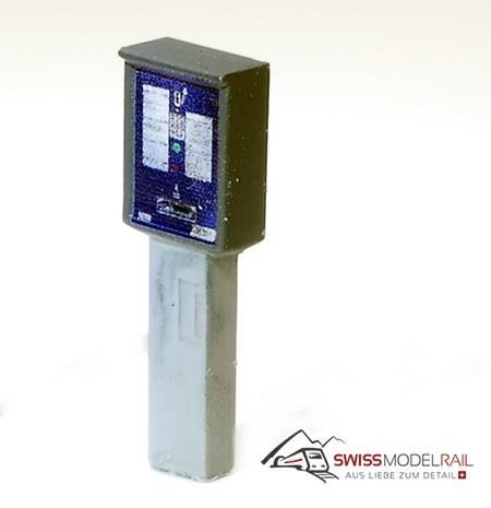 Parkuhr / Parkautomat breit Schweiz (H0) Neuheit 2020