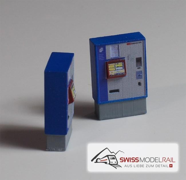 Billetautomat SBB breit (mit LED) H0