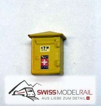 Briefkasten PTT historisch H0