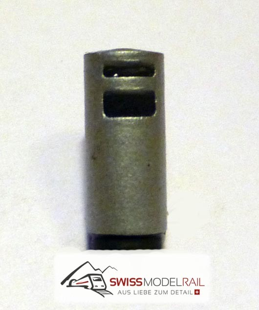 Abfalleimer Variante 5 Rund mit Aschenbecher (H0)