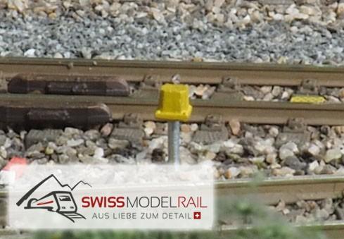 Anschlusskasten für Achszähler modern, gelb H0 (4 Stück)