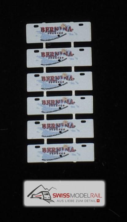 Zuglaufschilder Bernina Express (6er Set) H0