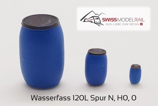 Wasserfass 120L blau (H0)