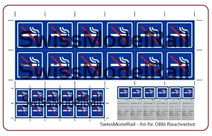 Kleberbogen Rauchverbotzone (Spur N)