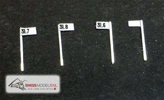 Streckentafel Kilometer/Hektometertafel (10 Stück)