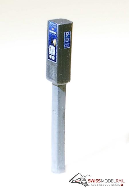 Parkuhr / Parkautomat schmal Schweiz (H0) Neuheit 2020