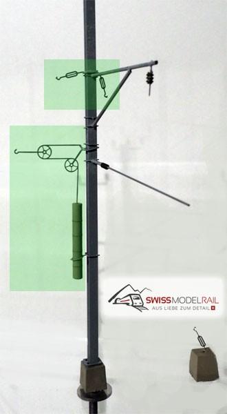 Fahrleitungsmast Abspannung Set