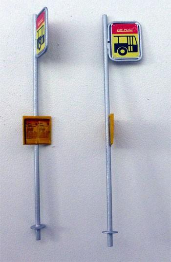 Postauto Haltestelle Tafel Spur 0