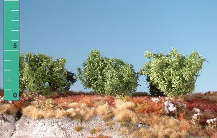 Mininatur Büsche niedrig (3 Stück, Sommer)