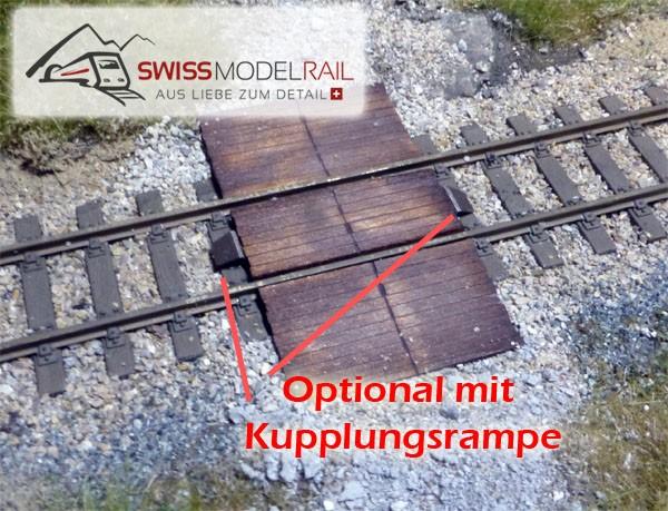 Gleis Übergang Holz (H0)