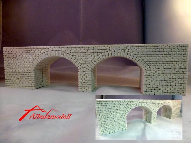Brücke mit 2 Bogen (H0/H0m)