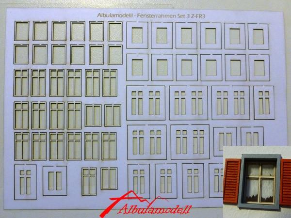Fensterrahmen Set 3 (H0)