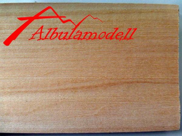 Holzplatten 0.6mm Rillen (H0)