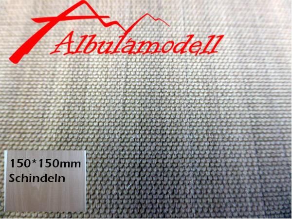 Holzplatte Schindeln rund (1.5mm Plattenstärke) (H0)