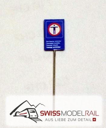 Überschreiten der Gleise verboten klein (H0)