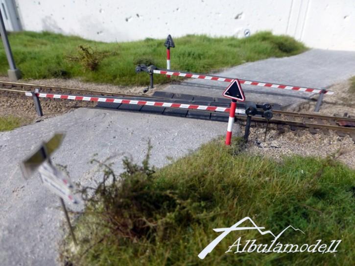 Bahnschranke Fertigmodell H0 (nur Schranken)