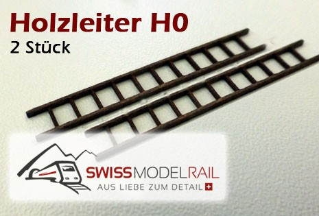 Holzleiter H0 (2 Stück)