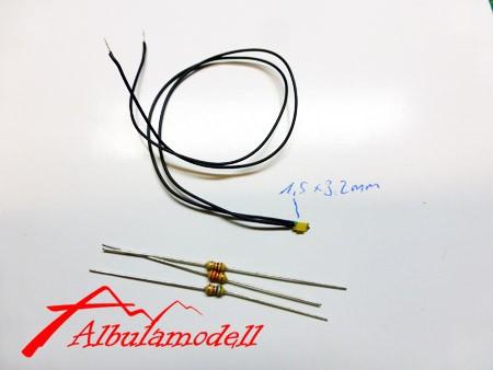 LED (mini) mit Litze und Vorwiderständen