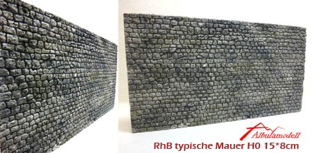 Mauer H0 RhB typische Ausführung (Keramik)
