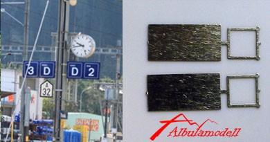 Perrontafel / Bahnsteigschild (2 Stück)