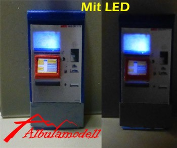 Billetautomat RhB/SBB modern mit LED H0