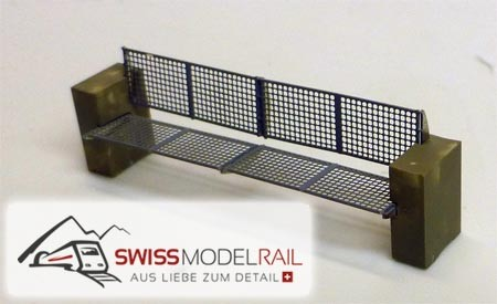 "Bank Typ ""Rail"" H0 (Fertigmodell)"