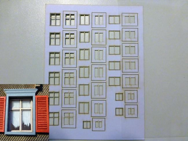 Fensterrahmen Set 1 (H0)