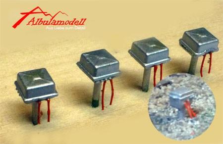 Gleisanschlussbox / Anschlusskasten H0 (4 Stück)