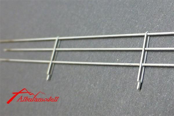 Metall Zaun dreistrebig H0 (50 cm)