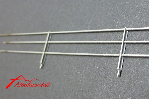 Metall Zaun dreistrebig (beidseitig strukturiert) H0 (50 cm)