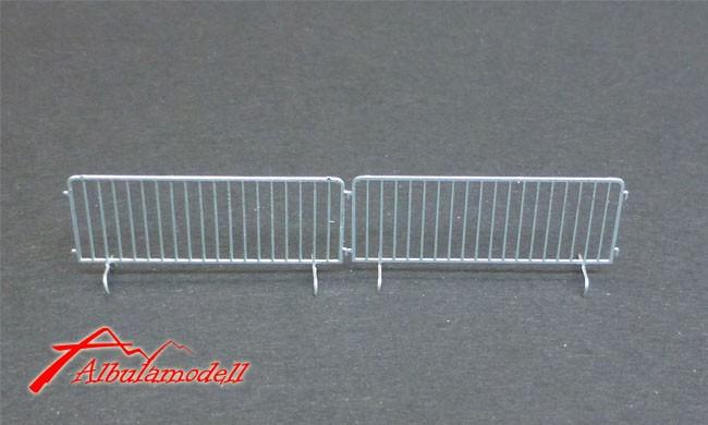 Absperrzaun / Absperrgitter Metall H0