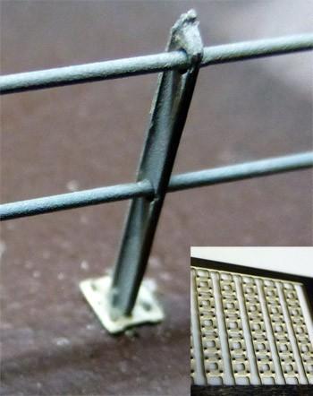 Metall Zaun Fussplatten H0 (25 Stück)