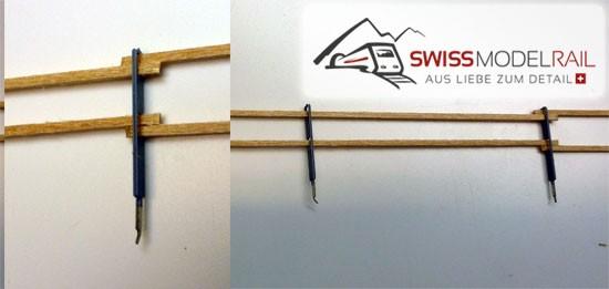 Metall/Holz Zaun zweistrebig H0 (50 cm)