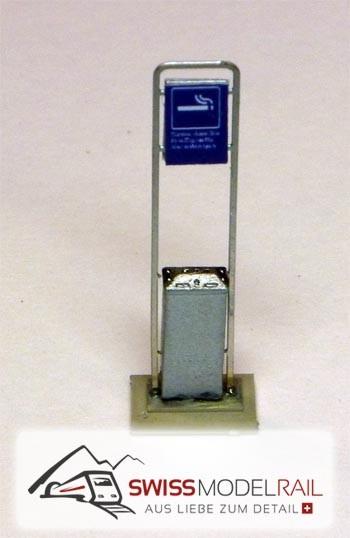Aschenbecher SBB modern H0 (Bausatz)