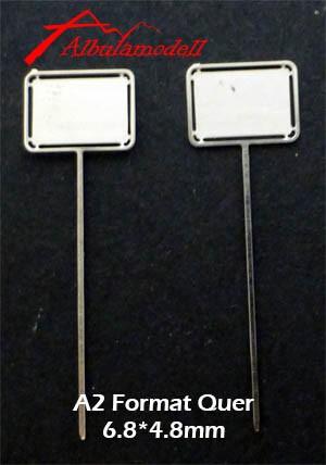 Tafel A2 Quer H0 (2 Stück)