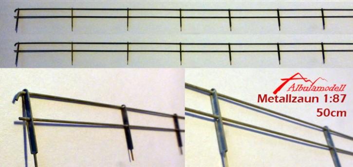 Metall Zaun zweistrebig H0 (50 cm)