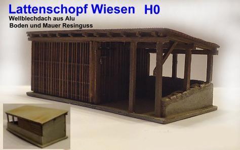 Schopf Wiesen / Lattenschopf Wiesen (H0)