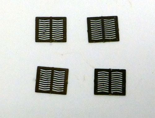 Schachtdeckel eckig (4 Stück)