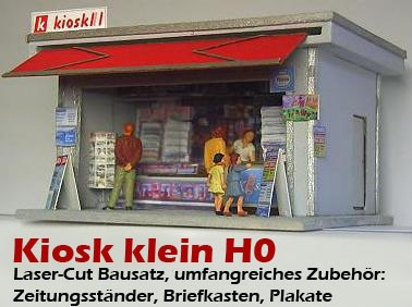 Kiosk Schweiz klein(H0)