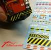 Kleberbogen mit Signalen, Markierungen, Schilder etc.
