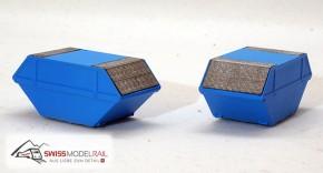 Deckelmulde Standard 6m3 hellblau (H0)