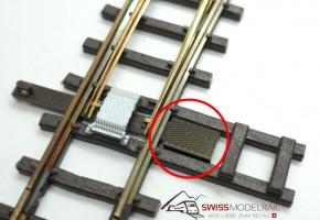Weichenkanal Deckel für H0 Weichen (2 Stück)