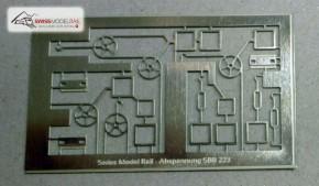 Fahrleitungsmast Abspannung Set SBB (Neuheit 2020)