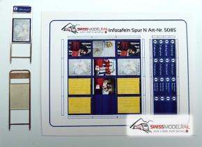 Infoständer Fahrplan SBB (2 Stück, Spur N) Neuheit 2020