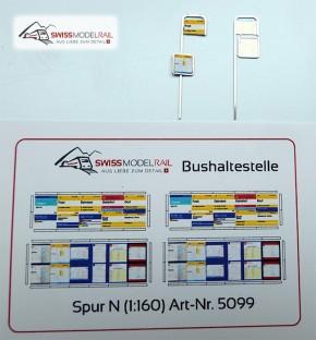 Bus Postauto Haltestelle (2 Stück, Spur N 1:160) Neuheit 2020