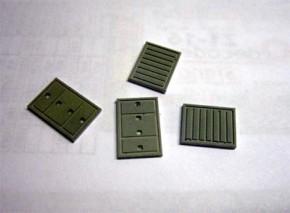 Abdeckplatten bemalt (4 Stück)