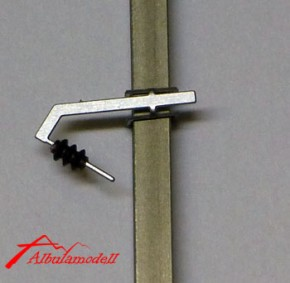 Fahrleitungsmast Freileitung 1 Leitung Anzug
